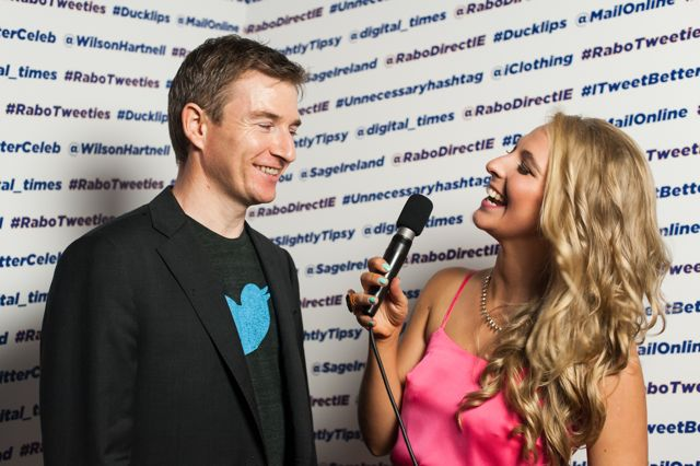Stephen McIntyre, managing director, Twitter Ireland with Hilary Johnson