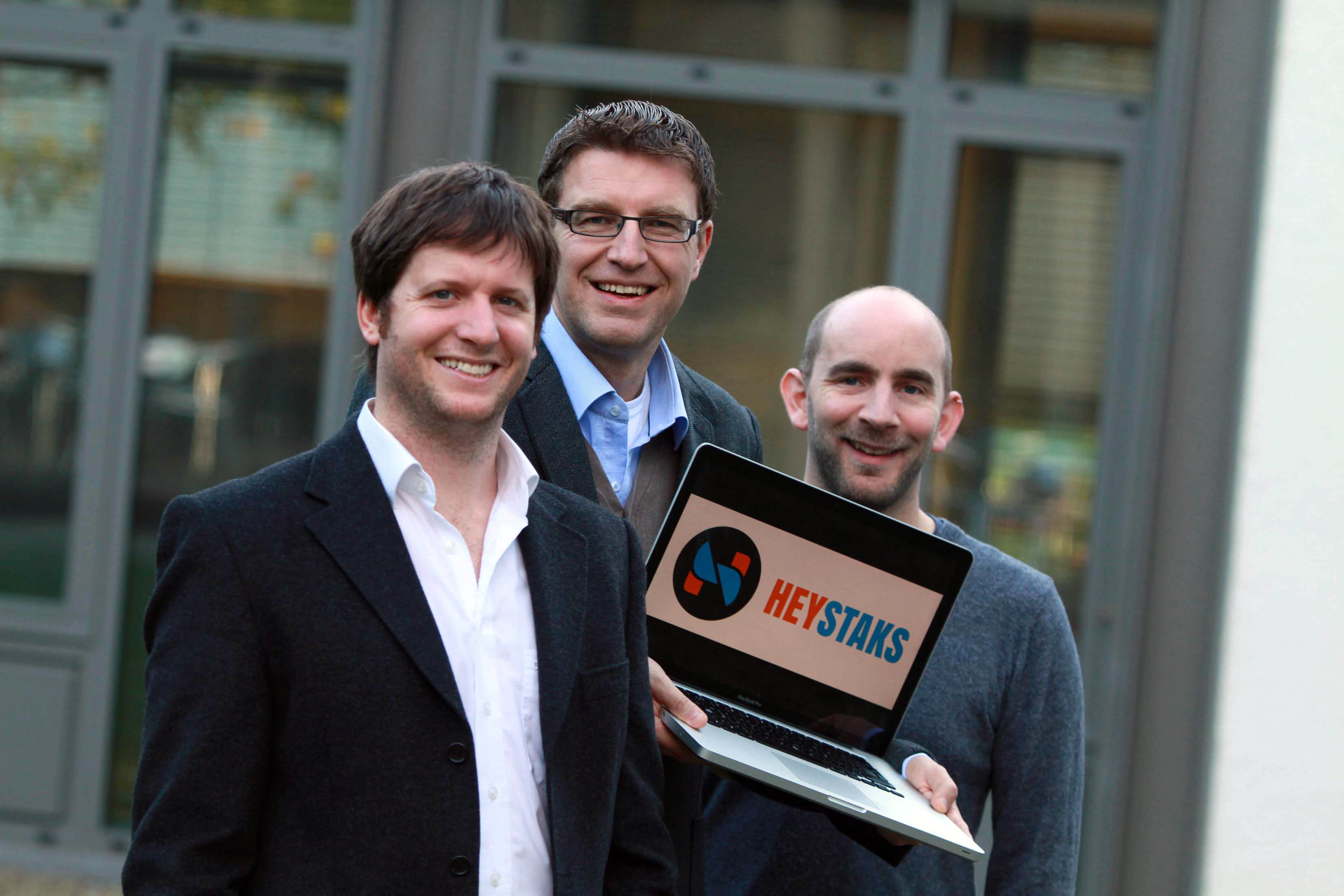 Pictured are (l-r) Dr Maurice Coyle, CEO and co-founder, HeyStaks; Professor Barry Smyth, chief scientist and co-founder, HeyStaks and Dr Peter Briggs, CTO and co-founder, HeyStaks