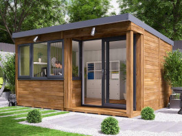 how to build an office in your garden